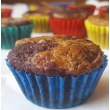 dark choc banana muffins