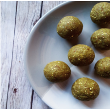 matcha protein balls