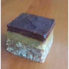 no bake tahini slice